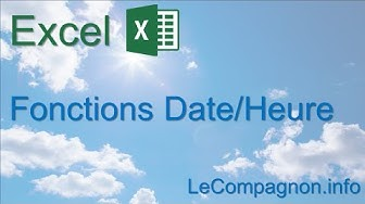 Excel - fonctions date/heure