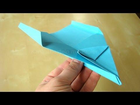 Papierflieger Falten Einfache Faltanleitung Basteln Mit Kindern