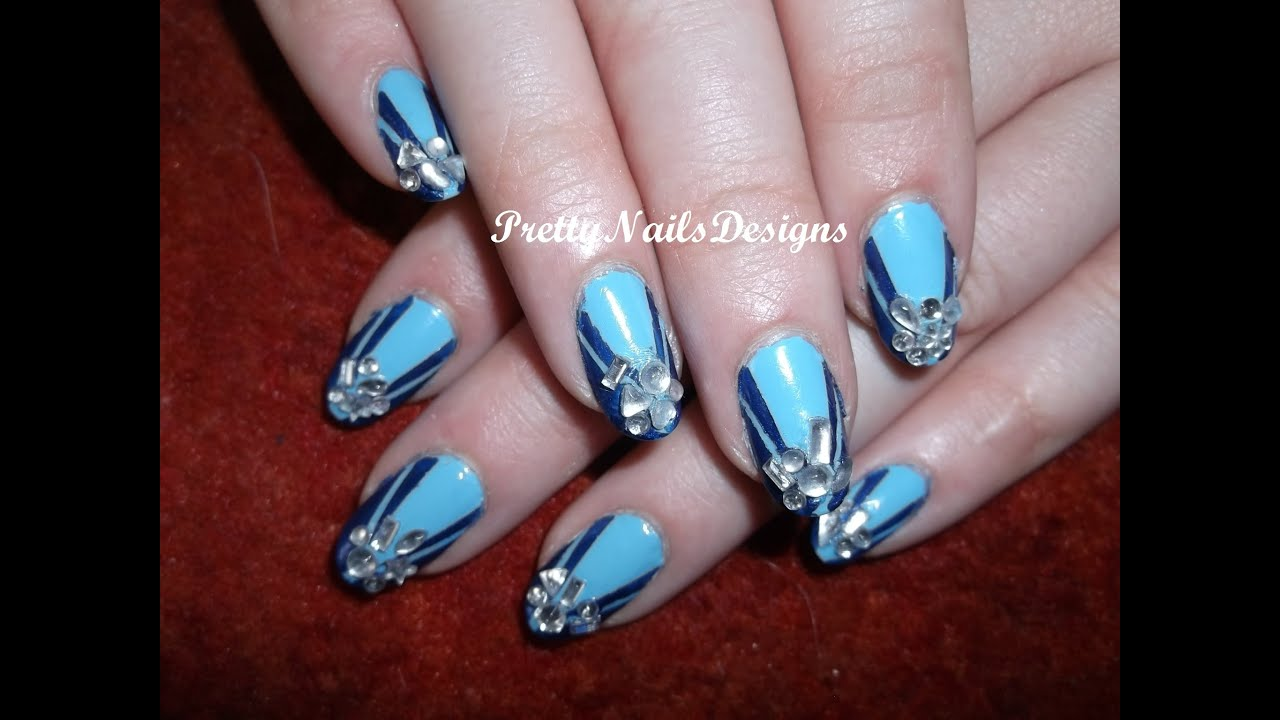 Art Deco Inspired Nail Design Youtube