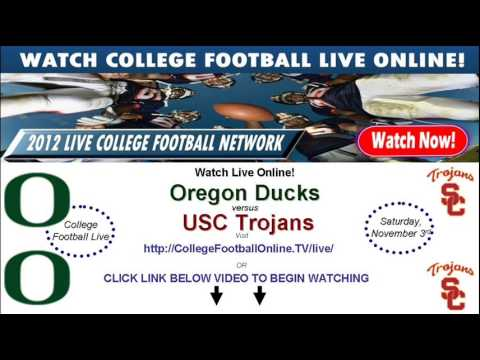 Watch USC Online vs Oregon Streaming November 3rd!