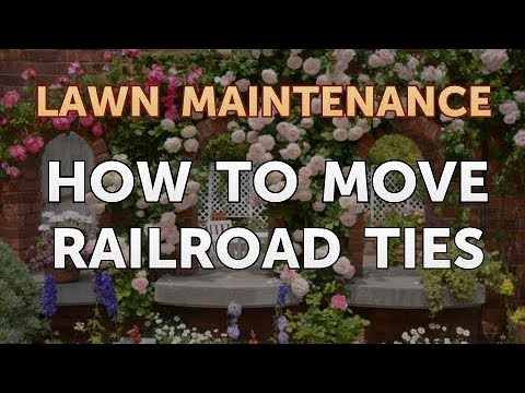 How to Move Railroad Ties