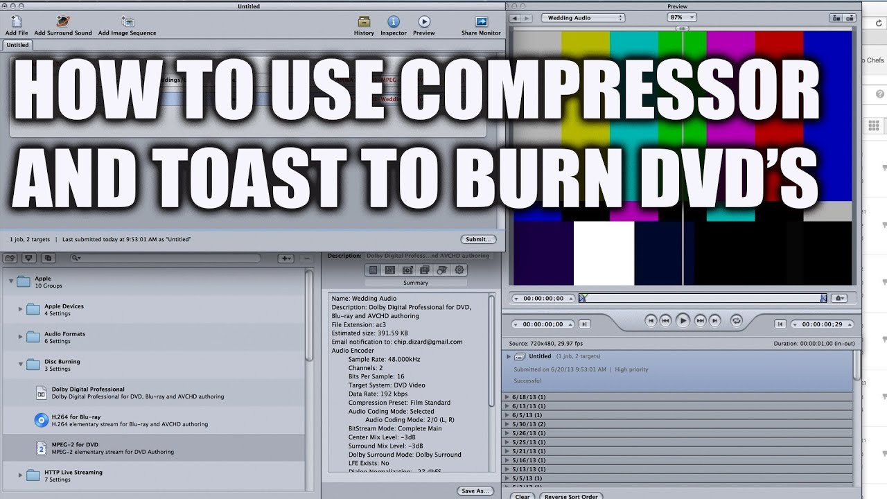 compressor dvd burning