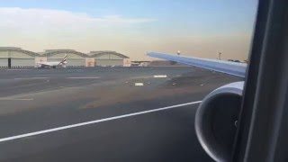 Emirates Boeing 777-300ER A6-EPB take off from Dubai to Milan