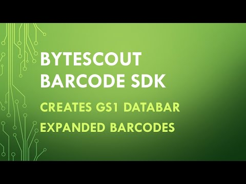 Bytescout BarCode SDK Makes GS1 DataBar Expanded Barcodes