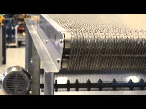 Ever Kleen® Wire Mesh Transfer Conveyor With Adjustable Discharge Height