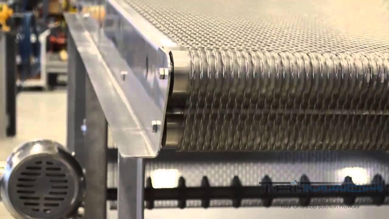 ever kleen wire mesh transfer conveyor with adjustable. Black Bedroom Furniture Sets. Home Design Ideas