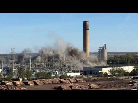 Power Plant Implosion Port Wentworth Georgia