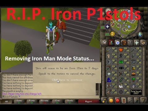 De-Ironing My 2k Total Level Ironman (OLD IRONMAN)