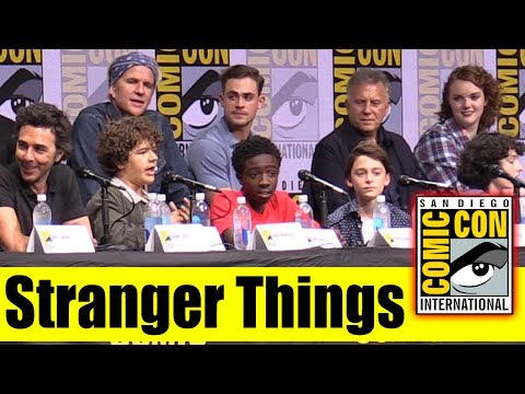 STRANGER THINGS | Comic Con 2017 Full Panel (Natalia Dyer, Joe Keery, Millie Bobby Brown)
