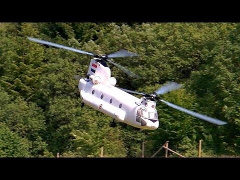 CHINOOK CH-47 VARIO RC TANDEM HELICOPTER FLIGHT SHOW / Pöting Turbine Meeting 2015