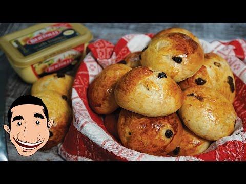 Italian Hot Cross Buns Recipe | Pan Goccioli | Italian Food Recipe