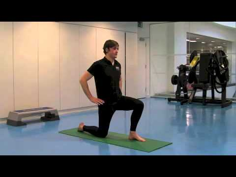 static and active hip flexor stretch  youtube