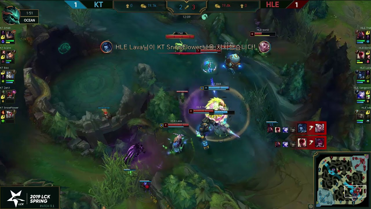 What a crash by Thal, Boom! KT vs. HLE [2019 LCK Highlight]