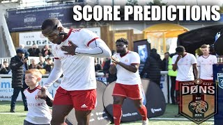 SE DONS | KENT CUP FINAL | SCORE PREDICTIONS