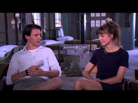 BEHIND THE FENCE: Katja Herbers and Harry Lloyd