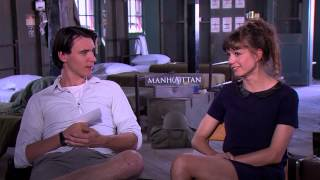 BEHIND THE FENCE: Katja Herbers and Harry Lloyd