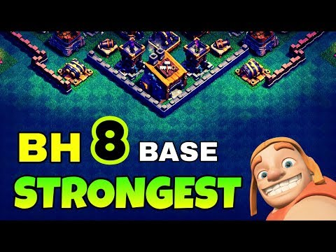 STRONGEST BUILDER HALL 8 BASE LAYOUT | BEST BH8 BASE IN COC | CLASH OF CLANS