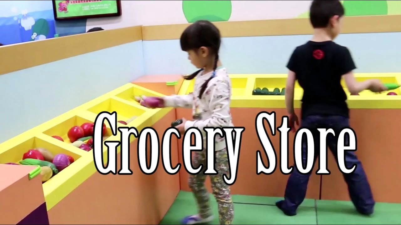 Indoor Playground Fun Grocery Shop Play Kitchen Kids Pretend Play In Childrenu0027s  Play Center In China
