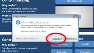 Privacyfix for Internet Explorer 9