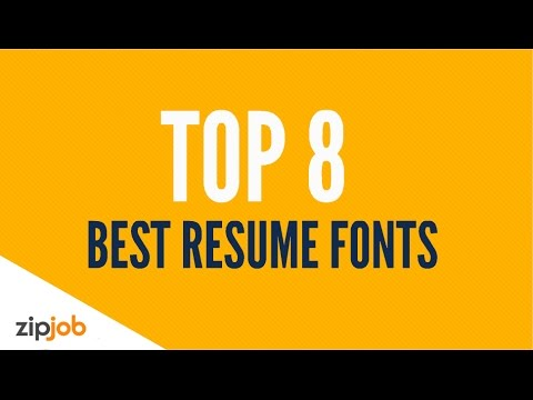 The Top 8 Resume Fonts for 2019 - YouTube
