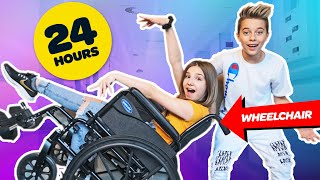 I Spent 24 HOURS In A WHEELCHAIR Challenge **BAD IDEA** ♿️ | Piper Rockelle