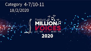 18/2/2020 Age Category 4-7-8-9-10-11 - Music competition festival Million Voices - 5