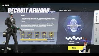 Rules of survival - Get Recruit reward tips working