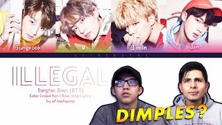 Video GUYS REACT TO BTS 'Dimples/Illegal' (Vocal Line) download MP3, 3GP, MP4, WEBM, AVI, FLV Maret 2018