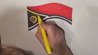 Learn geography for kids How to draw a flag Vanuatu