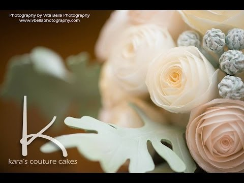 Kara S Couture Cakes Wafer Bouquet Rose Tutorial Youtube