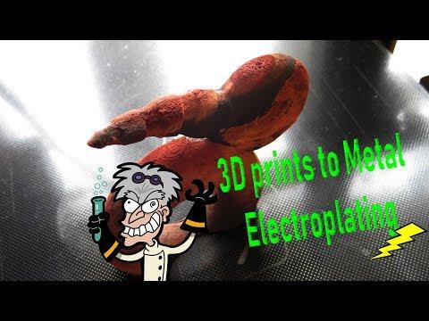 3D prints to Metal ⚡ Electroplating 🆒 DIY Experiment !