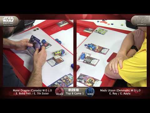 2018 Star Wars Destiny World Championships: Dragne (Boba/Seventh) vs. Mads (Rey/Aayla)