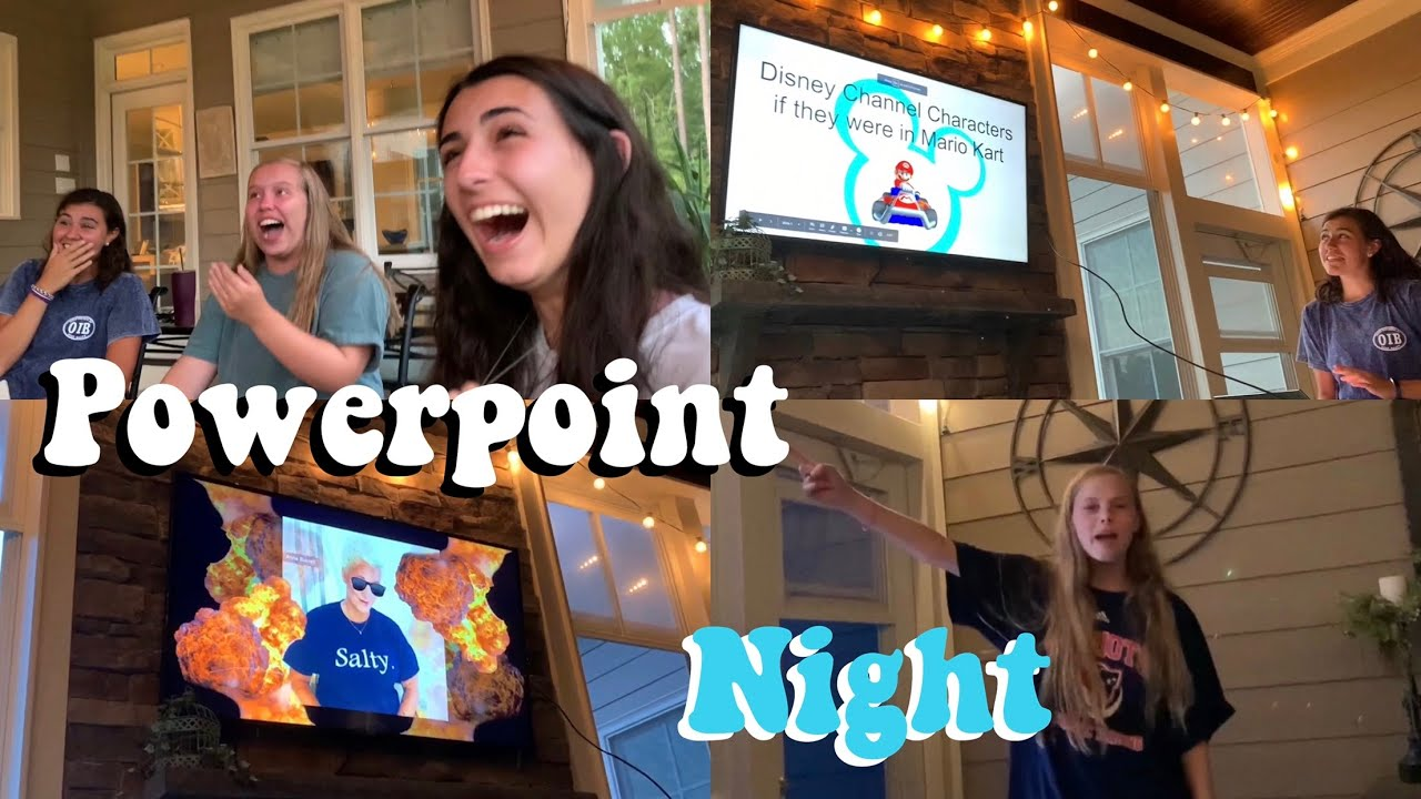 We Had A Powerpoint Night Tik Tok Inspired Youtube