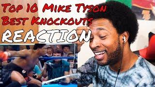 Top 10 Mike Tyson Best Knockouts REACTION - DaVinci REACTS