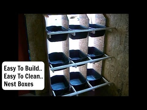 How To Build  Chicken Nest Boxes That Will Keep Your Eggs Cleaner