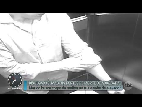 Imagens mostram agressões de marido antes de advogada cair de prédio | Primeiro Impacto (06/08/18)