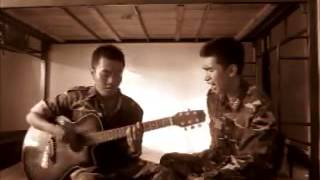 Vietnam People's Army officer singing - Rolling In The Deep ( with guitar cover)