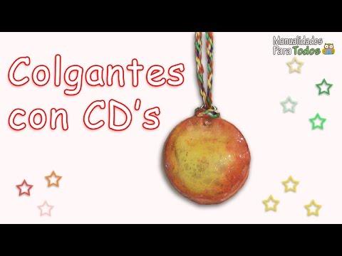 Colgantes con cds viejos reciclados manualidades para - Manualidades con cd viejos ...
