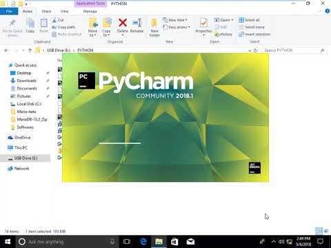 PyCharm 2018 Community Edition Installation in Windows 10