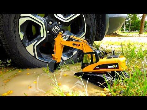 penggali menyelamatkan mobil mainan anak-anak bermain Excavator Rescue Car Toy for Kids