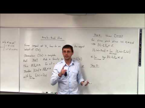 Topics In Analysis (Lecture 19): Arzela-Ascoli Theorem Part 1