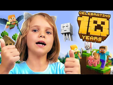 10 лет Minecraft Катя исследует новую локацию