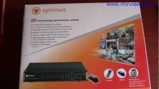 видео Видеорегистратор optimus rec-1016 по