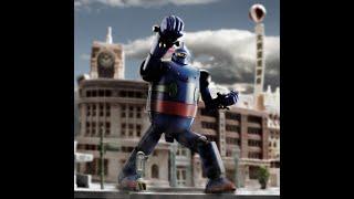 『鉄人28号』ビルの街にガオー! リモコン操作で主題歌・効果音が流れる...