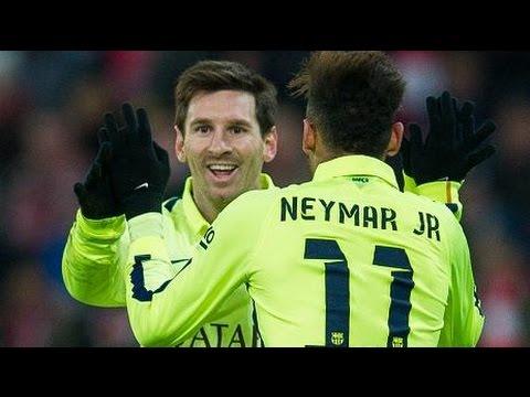Athletic Bilbao vs Barcelona 2-5 Goals & Highlights 08.02.2015 Messi & Neymar Show