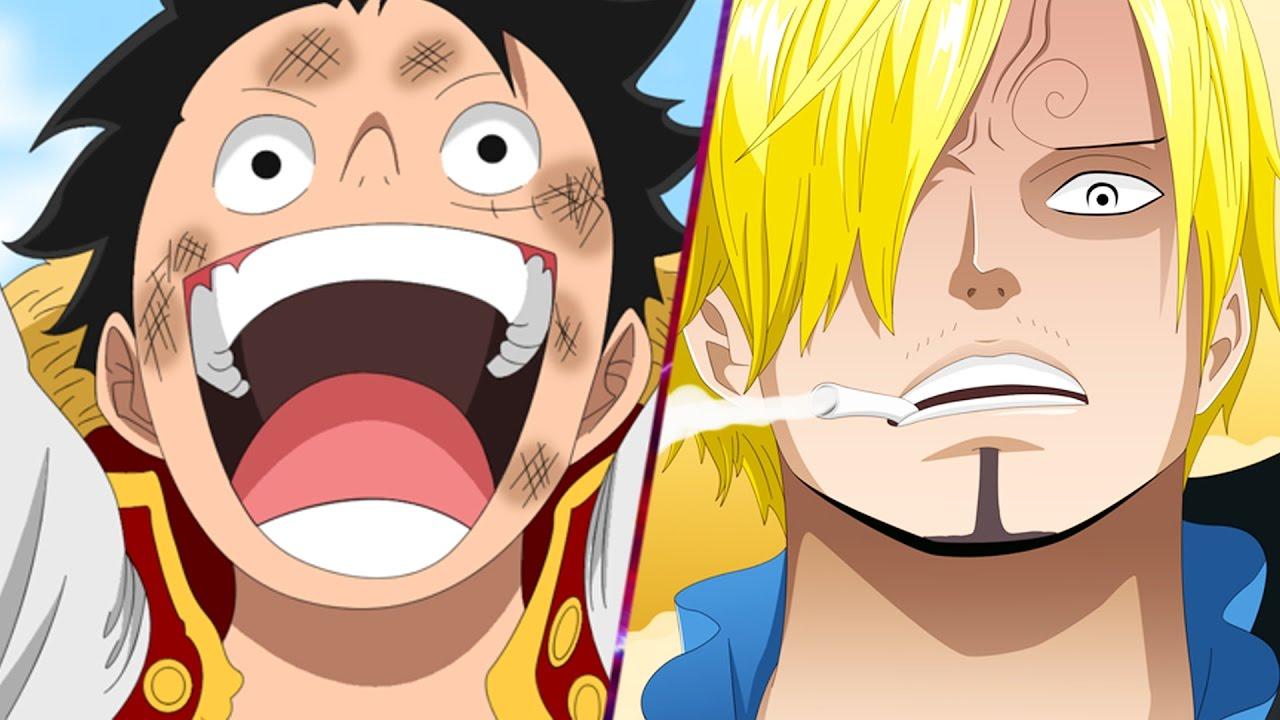 Luffy Vs Sanji! One Piece 843 ワンピース Manga Chapter Review ... One Piece Luffy And Zoro And Sanji