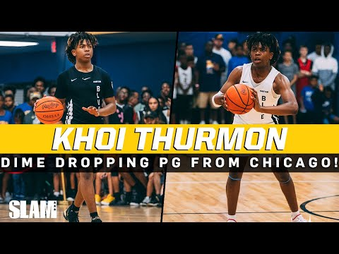 Khoi Thurmon is a DIME dropping PG from Chicago! James Harden Jr? 👀