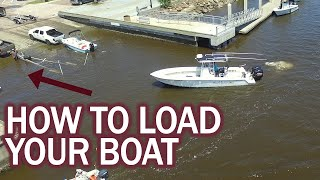 How to Load Your Boat at the Boat Ramp