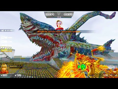 Counter-Strike Nexon: Zombies - Megalodon Zombie Boss Fight (Hard1) Gameplay On Rendezvous Map