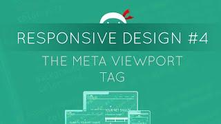 Responsive Web Design Tutorial #4 - The Viewport Tag